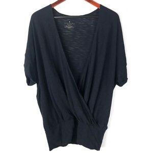 Banana Republic blouse top knit Wrap Shirt L Large